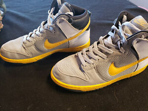 buy good good looking low price sale Details about Nike Dunk High Top Mens Basketball Shoes Sz 9.5 Gray/White