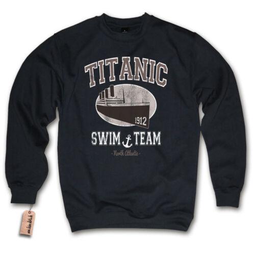 KULT FUN Retro Sweater Sweatshirt S M L XL XXL Pullover TITANIC SWIM TEAM