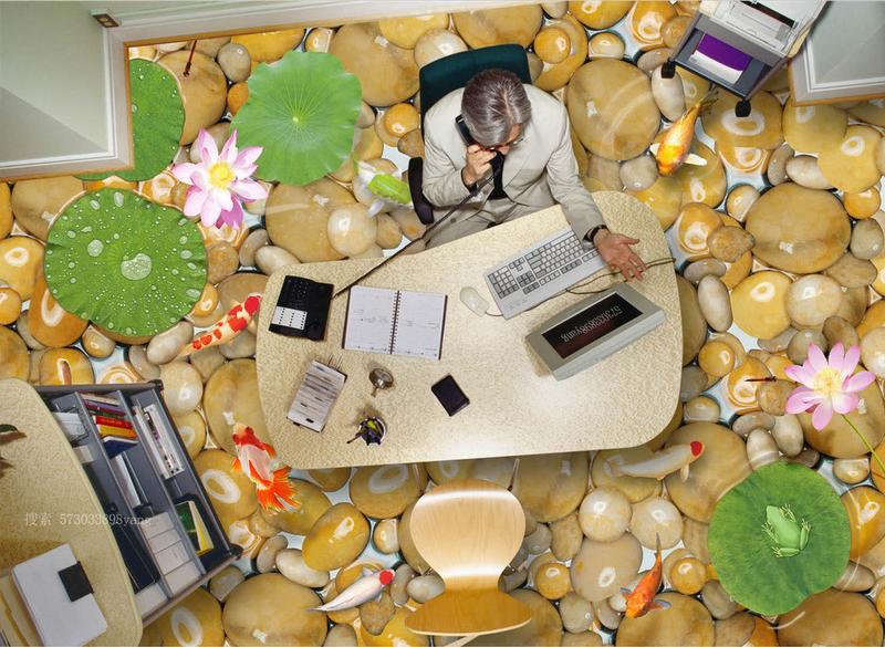 3D Kieselsteine Lotus 81 Fototapeten Wandbild Fototapete Tapete Familie DE Lemon