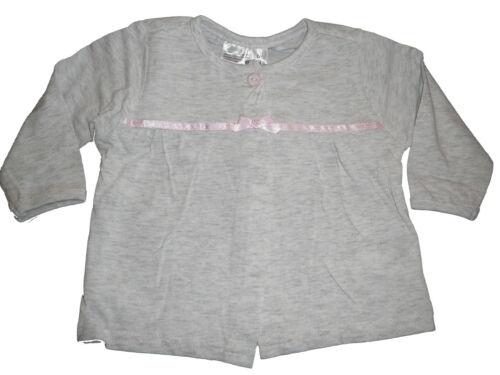Oberteil Gr NEU Ergee tolle leichte Jacke 62 grau mit rosa Schleife !!
