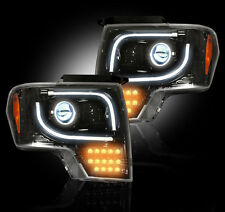 Recon 264273BKC - 13-14 FORD F150/RAPTOR SMOKED LED DRL PROJECTOR HEADLIGHTS
