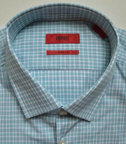 NWT HUGO Red Label By Hugo Boss Sharp Fit Plaid Long Sleeve Dress Shirt