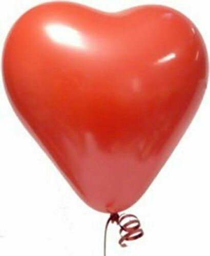 various sized packs Tri Ruby Red Heart Shaped Latex Balloons