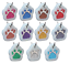 Glitter-Paw-Print-Pet-ID-Tags-Custom-Engraved-Dog-Cat-Tag-Personalized thumbnail 31