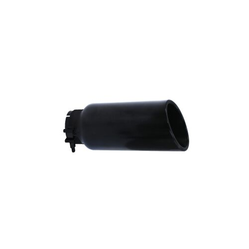 """Black PowderCoated Steel 2.75/"""" Inlet 4/"""" Outer Exhaust Tip Go Rhino GRT234410B"""
