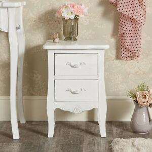 Weiß Nachttisch Kasten Vintage Französisch Chic Schlafzimmer Möbel ...