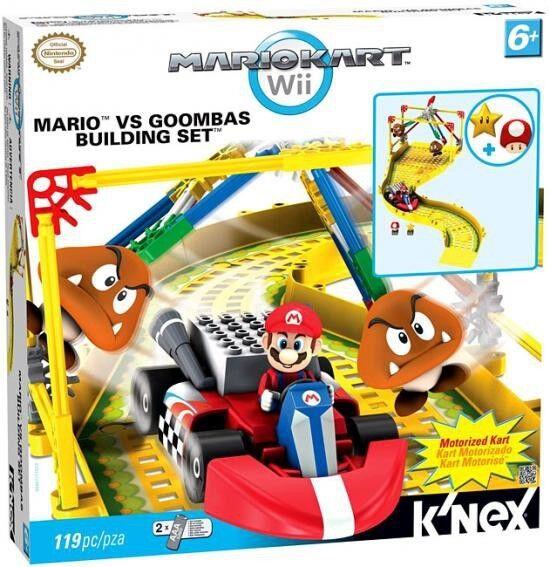 K'NEX Super Mario Mario Kart Wii Mario vs Goombas Set