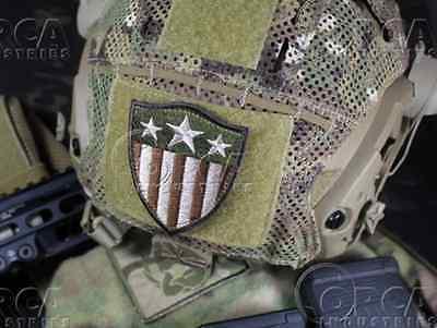 Genuine Orca Industries Velcro Morale Patch Captain America Heater Shield