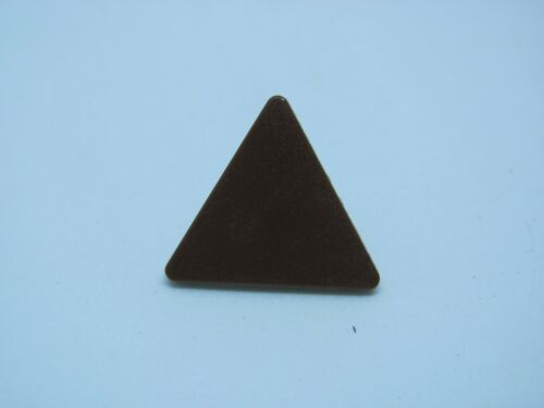 Brown LEGO 892 @@ Road Sign Clip-on 2 x 2 Triangle 7121 7128 7139