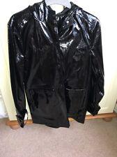 GLAMOROUS BLACK PVC VINYL PLASTIC MAC RAINCOAT JACKET FESTIVAL 8 MISSGUIDED
