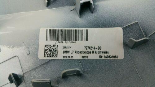 ORIG bmw 3er f30 lci exterior espejo capuchón set 7274213//7274214 ALPINWEISS