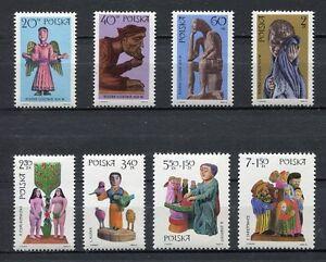 35792) Poland 1969 MNH Folk Art (Sculptures) 8v Scott #170