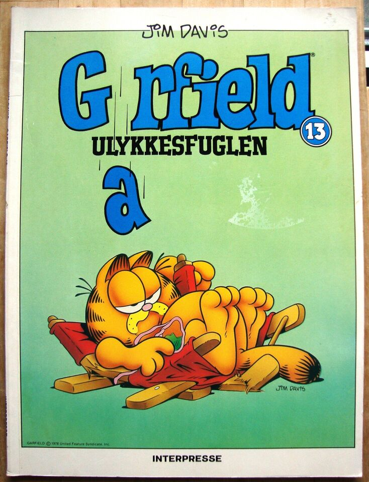 SOLGT - Garfield 13: Ulykkesfuglen, Jim Davis, Tegneserie