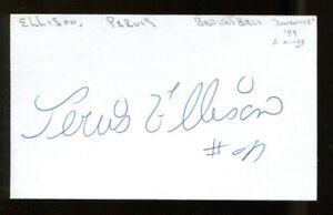 Pervis Ellison Signed Index Card 3x5 Autographed Bullets Celtics 56377