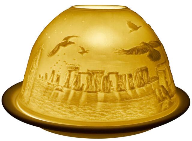 Light-Glow Stonehenge Tealight Candle Holder Tea Light Votive Dome Ceramic Boxed