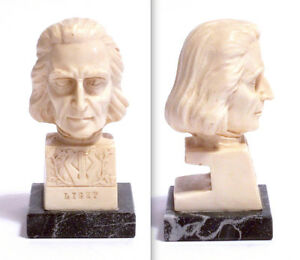 STATUA-MEZZOBUSTO-IN-RESINA-HEAD-SCULPTURE-034-LISZT-034-BASE-MARMO-By-A-SANTINI
