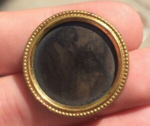 Antique-Victorian-Brooch-Pin-Picture-Frame-Tintype-Children
