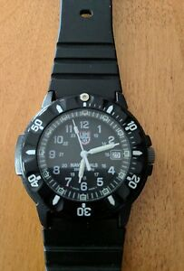 Mens luminox 3000 3900 series navy seals swiss made dive watch black 200 meter ebay for Watches navy seals use