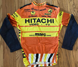 90/'s Castelli Cycling Jersey New but Vintaged Cycle Top in Size XL but a Large Bright Yellow  Nice Bike Top