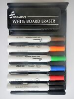 Skilcraft Dry Erase (6) Chisel Tip Marker Set For White Board Glass Nonporous