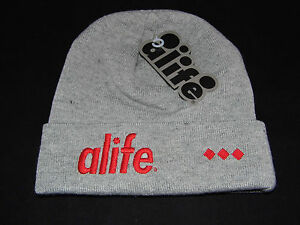 Alife-Cuffed-Beanie-Grey-Heather-One-Size-New-with-tags