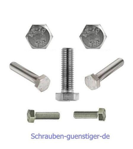 10 Stk Sechskantschrauben 12 mm DIN 933 M12 x 20 Edelstahl V2A
