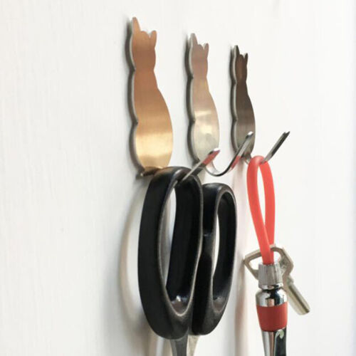Cute Cat Shape Wall Door Hook Rack Key Hooks Hanger Home Decor Hooks WA