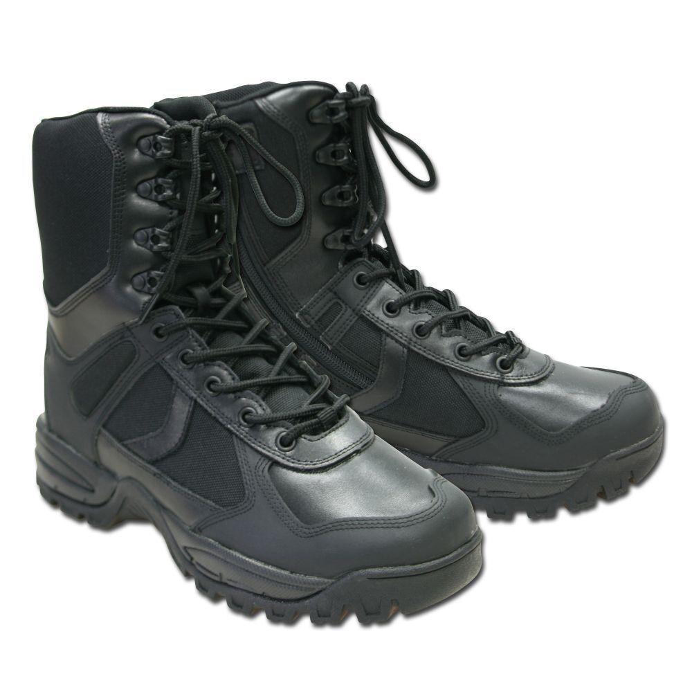 Mil-Tec Outdoor Stiefel Patrol Zip Wanderstiefel Wanderschuhe Wanderschuhe Wanderstiefel Herren schwarz 2a6d86