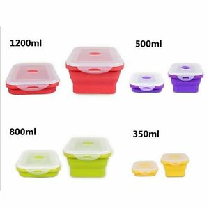 2017 Silicone Eco Collapsible Lunch Box Portable Folding Food