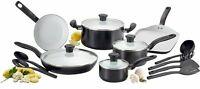 T-fal C921sg Initiatives Ceramic Nonstick Cookware Set, 16-piece, Black , New, F on Sale