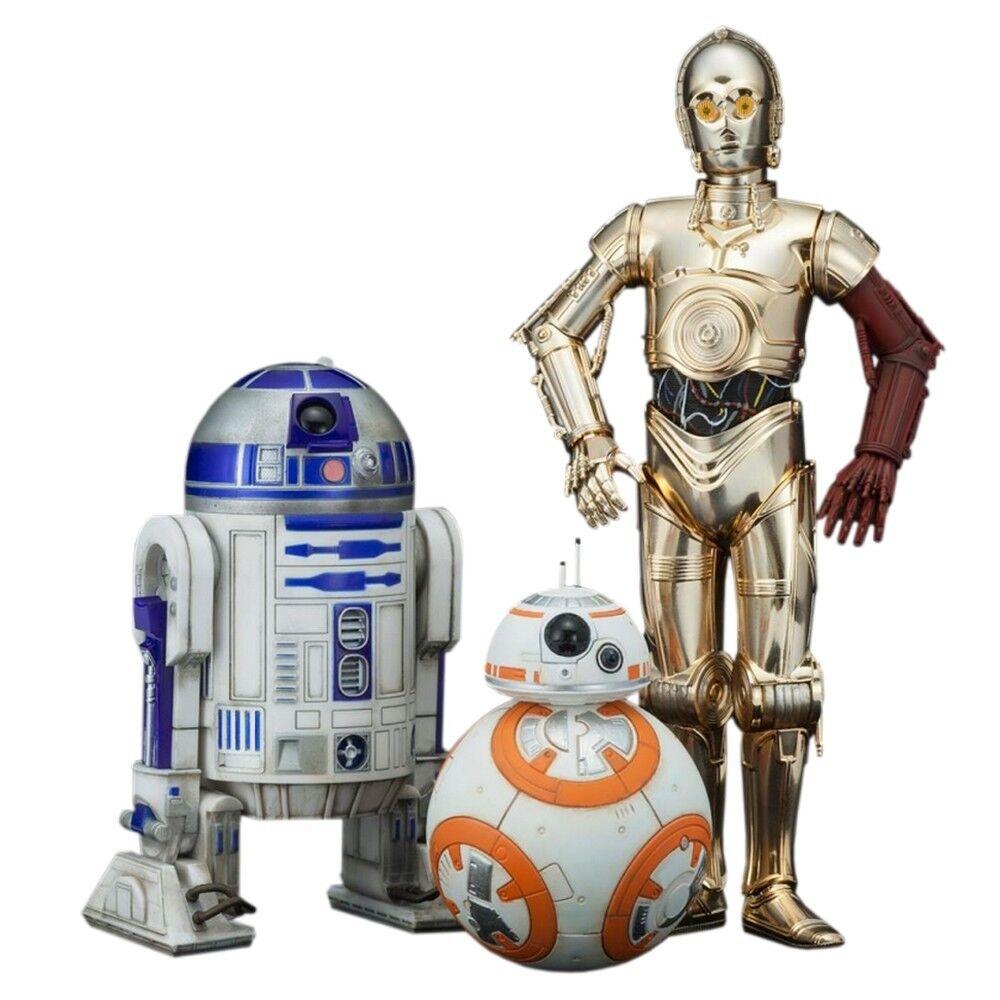 Figura de colección Kotobukiya Star Wars C3-PO R2-D2 y BB-8 ARTFX+ 1 10 (SW114)