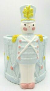 Vintage Relpo Boy Toy Soldier Drum Nursery Ceramic Porcelain Planter Pot Japan