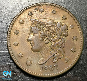 1837-Coronet-Head-Large-Cent-MAKE-US-AN-OFFER-B6317
