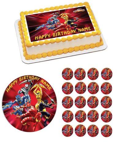 Edible Cake Topper OR Cupcake Topper Power Rangers Decor