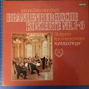 Karl Münchinger Bach Die brandenburgischen Konzerte 1-6 DECCA DK11534/1-2 LP1805