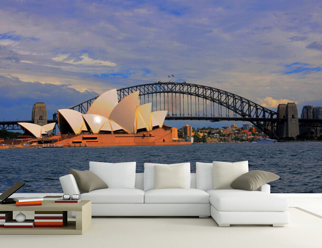 3D Sea Bridge Opera6423 Wall Paper Wall Print Decal Wall Deco Wall Indoor Murals