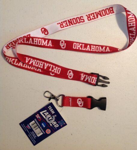 DELUXE OKLAHOMA LANYARD KEYCHAIN KEY TAG HEAVY DUTY BREAK AWAY CLIP NEW NCAA