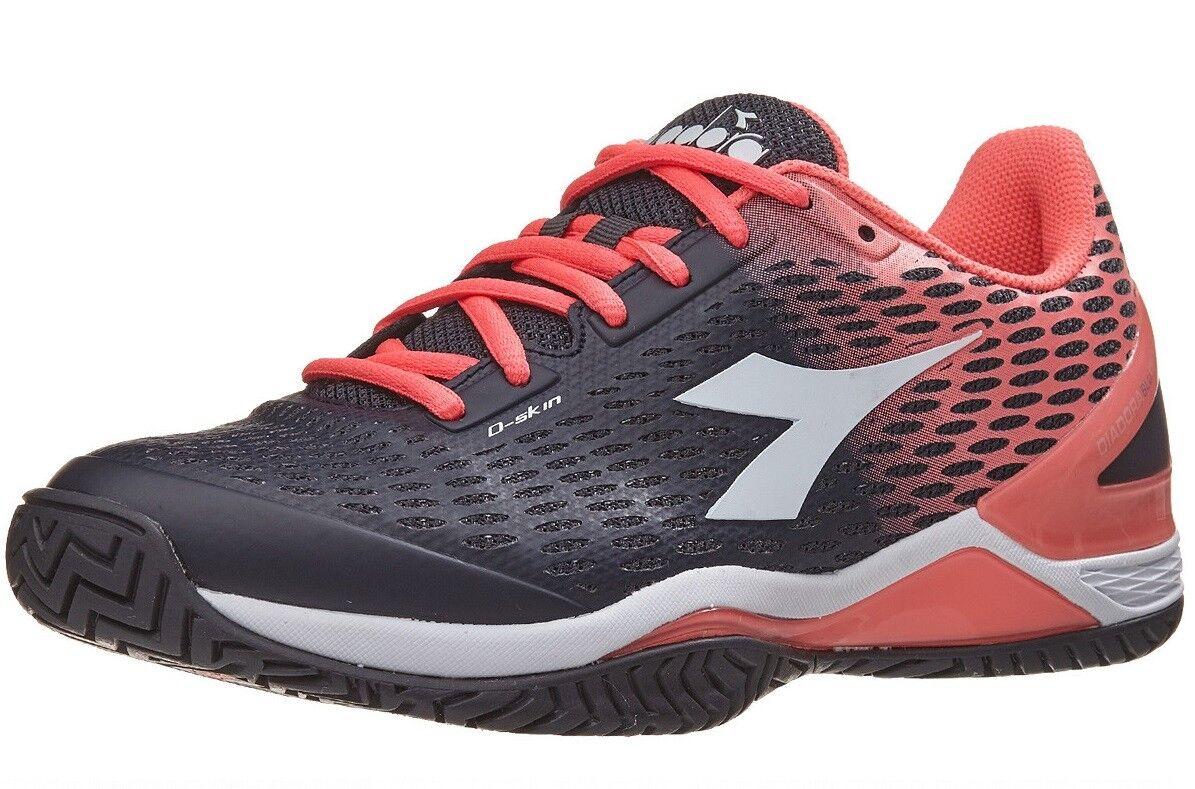 nuevo  Para Mujer Diadora Speed azulshield 2 AG (negro Fluo Zapatos tenis Coral)
