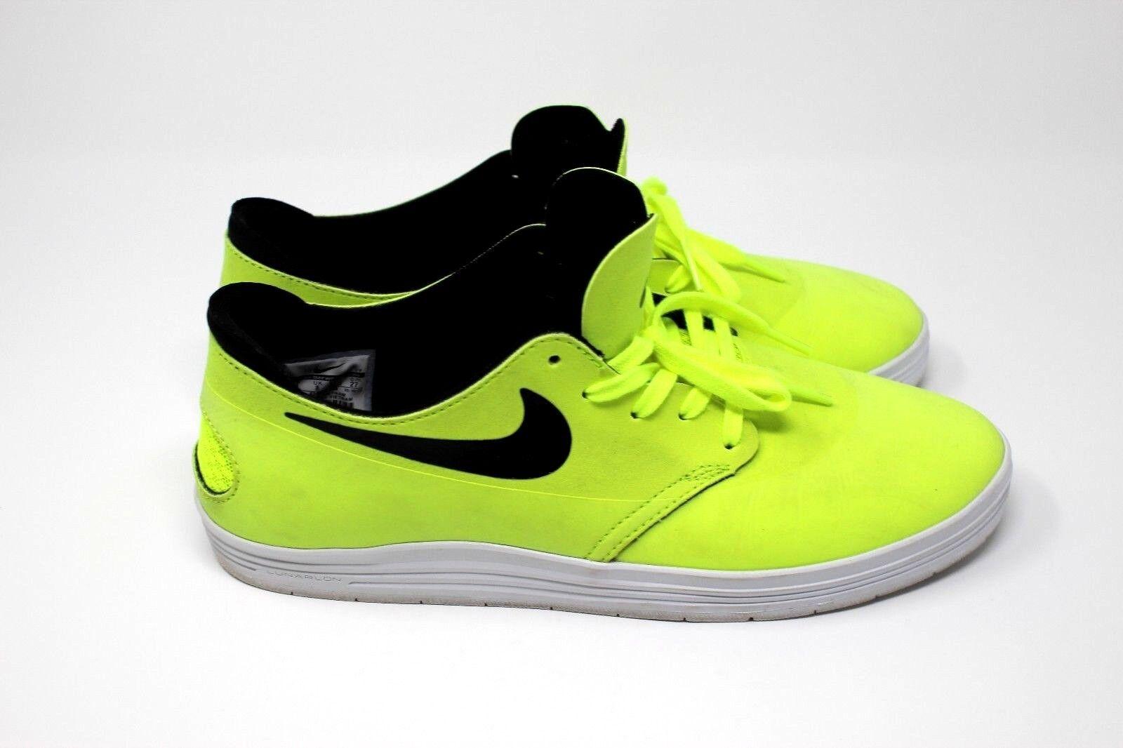 best sneakers 14df6 fff12 Mens Nike SB Lunarlon Light Light Light Green Skateboarding Shoe, Suede  Upper, Size 9