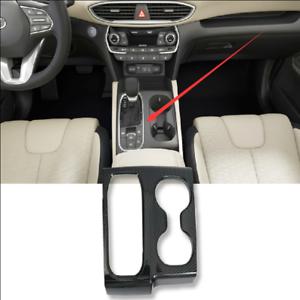 1pcs Carbon Fiber Car Interior Gear Panel Cover Trim For 2019 Hyundai Santa Fe