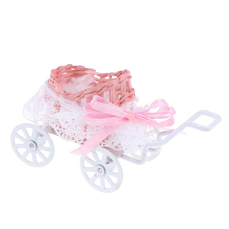 1Pc 1:12 Dollhouse Miniature Baby carriage Model Doll House Accessories  jzUNGU