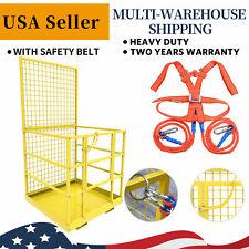 45x43inch Forklift Cage Work Platform Safety Cage Steel Construction Lift Basket
