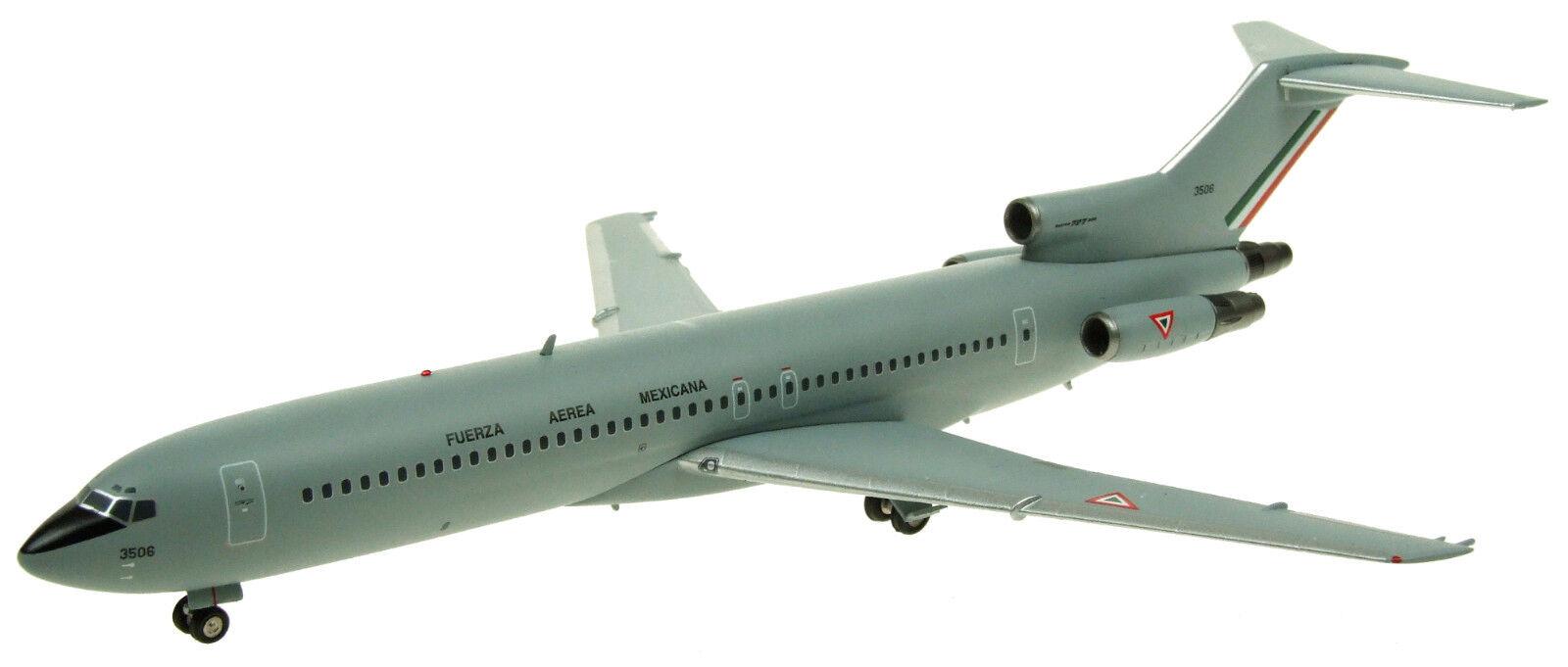 Inflight 200 IF722MAF002 1/200 México fuerza aérea Boeing 727-200 3506 con Soporte