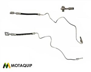 VW Golf Mk4 AUDI A3 Beetle Rear Brake Hose Metal Pipe Pair Genuine Motaquip