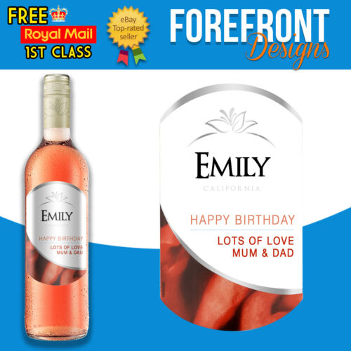Perfect Birthday//Wedding//Graduation Gift Personalised Red wine bottle label