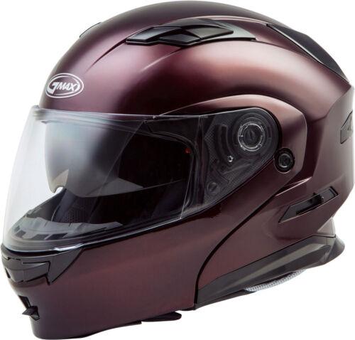 Wine Red Choose Size GMAX MD-01 Modular Flip-Up Motorcycle Helmet w//Sun Visor