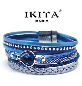 Luxus Breit Armband Ibiza Paris Brasilien Magnetverschluss Wickelarmband