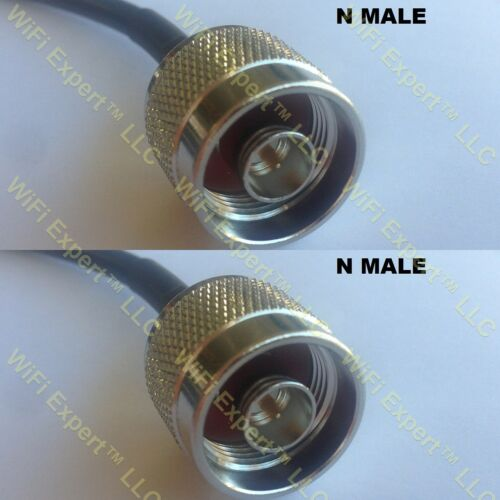 USA-CA RFC400 N MALE to N MALE Coaxial RF Pigtail Cable