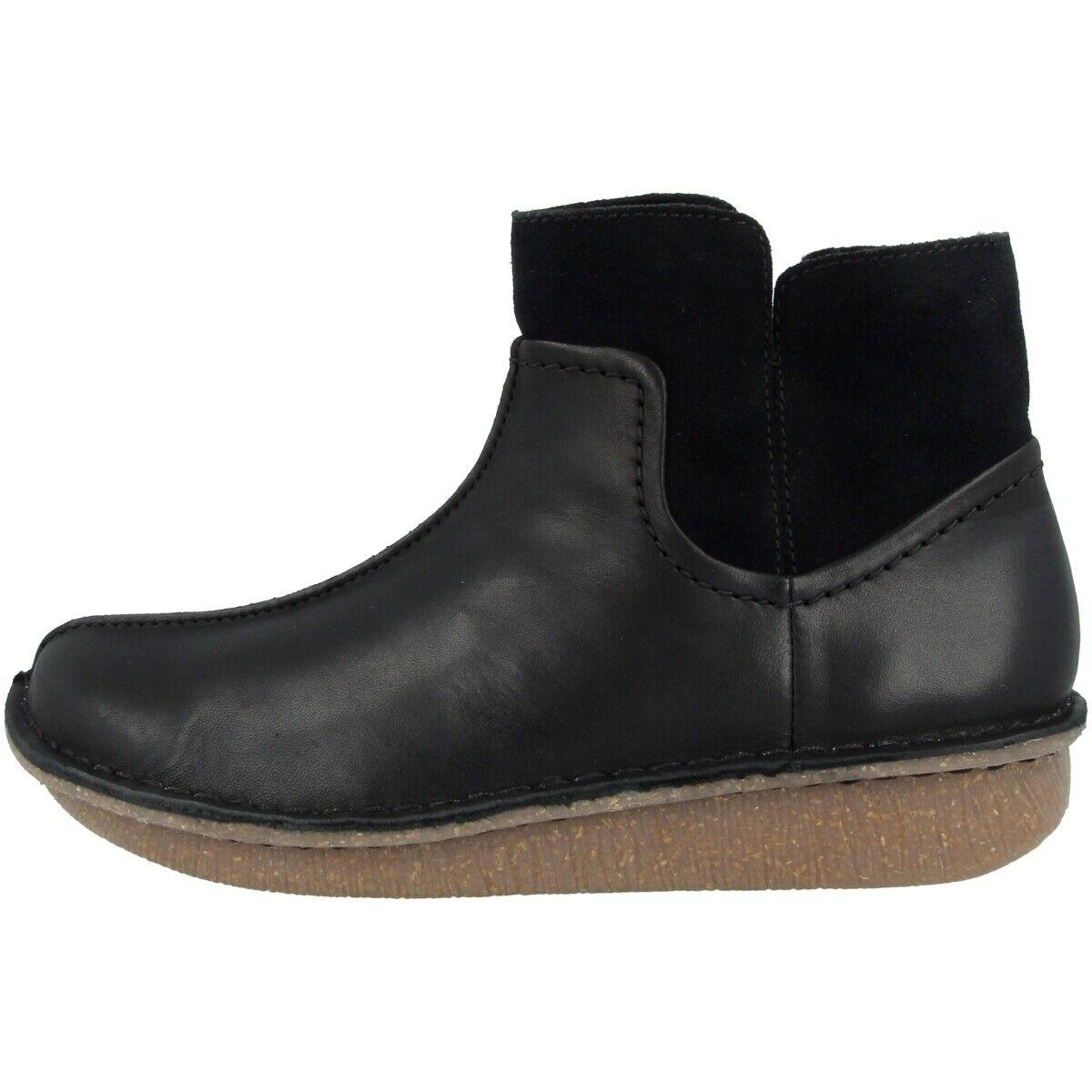 Clarks Funny Mid scarpe donna Leather stivali Ankle stivali nero  Combi 26144321  fino al 42% di sconto