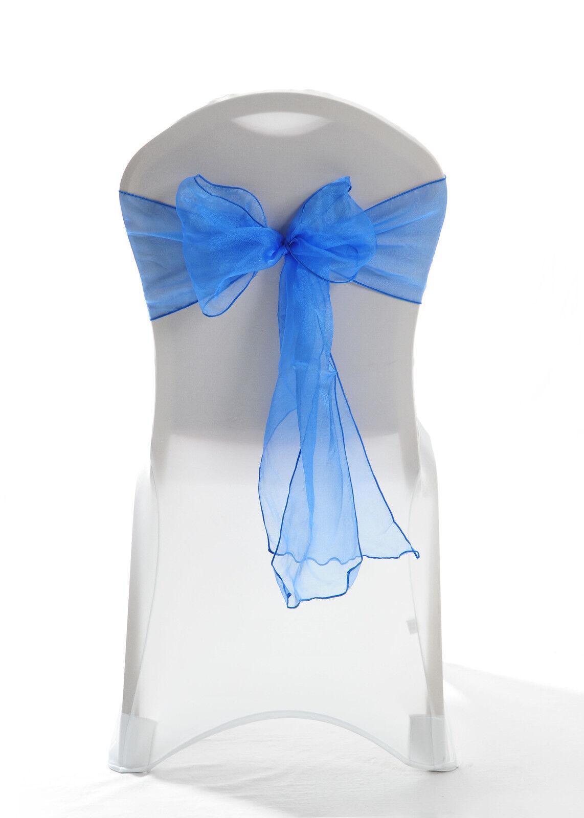 100 Königsblau Glänzend Glänzend Glänzend Organza Stuhlbezug Schleife Schärpe Hochzeit UK | Abgabepreis  | Deutschland Online Shop  | Charakteristisch  98f37b